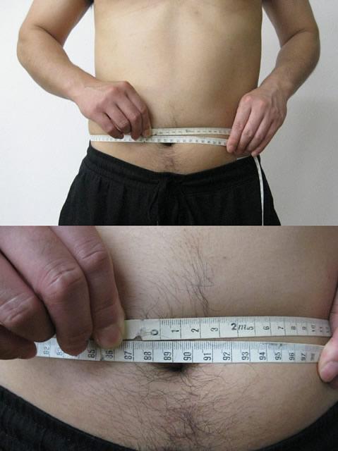 バルクアップhmbプロ1ヶ月後お腹周り写真